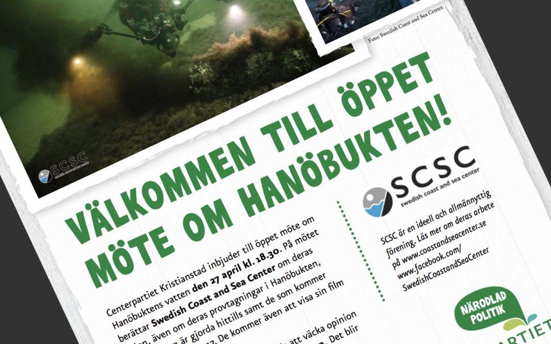 Inbjudan till öppet möte om Hanöbukten i Kristianstad
