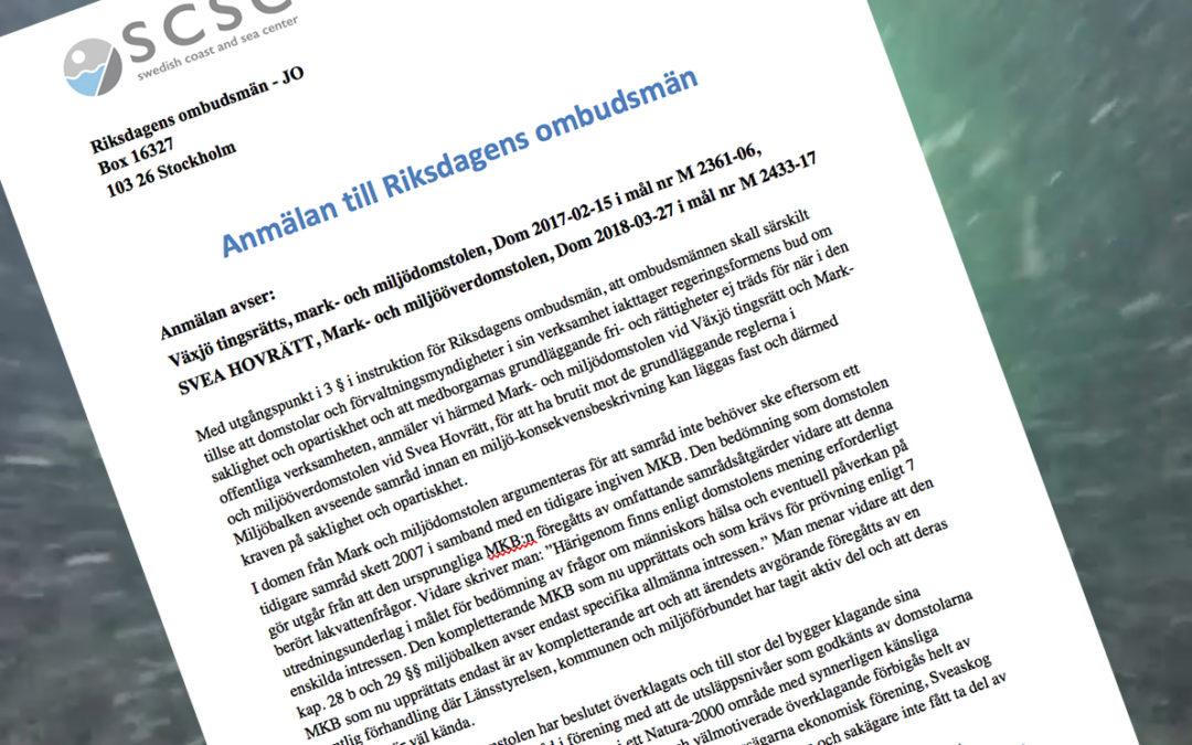 SCSC JO-ANMÄLER FLERA INSTANSER
